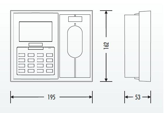 desenho_tecnico_Terminal_Biométrico_Controlo_Presenças_Acesso_NuxBio IV